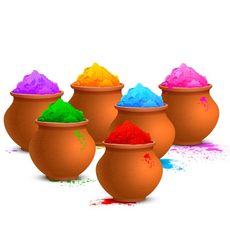rang: illustration of colorful gulal ( colors powder ) for Happy Holi
