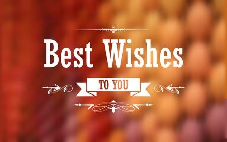 illustration of Best Wishes typography background Ilustrace