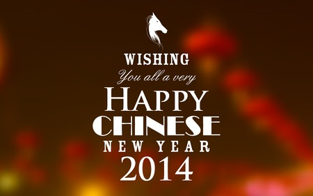 illustration of Chinese New Year typography background Vector