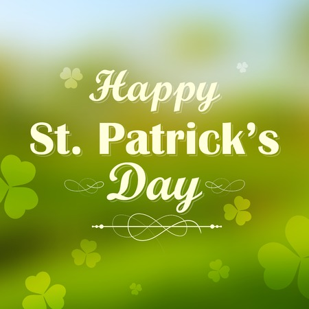illustration of Saint Patricks Day background with clover leaf Vector