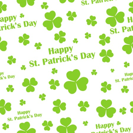 illustration of seamless Saint Patricks Day background with clover leaf Vector