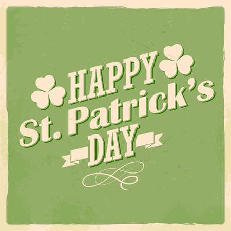 st patricks day: illustration of Saint Patricks Day background with clover leaf