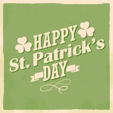 patrick's: illustration of Saint Patricks Day background with clover leaf
