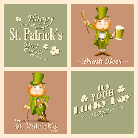 illustration of Saint Patricks Day background Vector