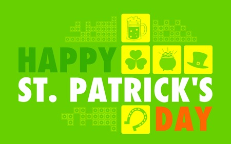 illustration of Saint Patricks Day flat background Vector