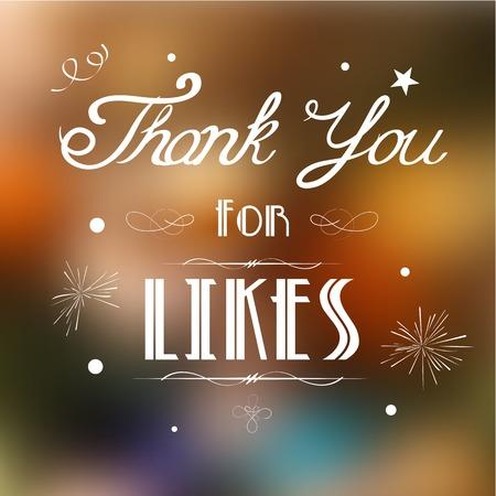 illustration of thank you for likes background Çizim