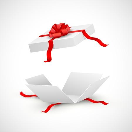 illustratie van open cadeau doos verrassen Stock Illustratie
