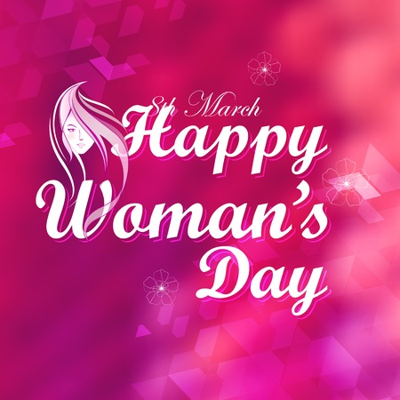 illustration of Happy Womans Day concept Vector