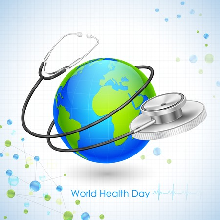 medical equipment: illustration of concept for World Health Day