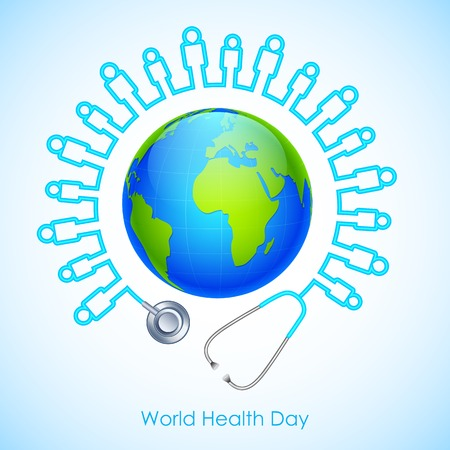 social awareness symbol: illustration of concept for World Health Day