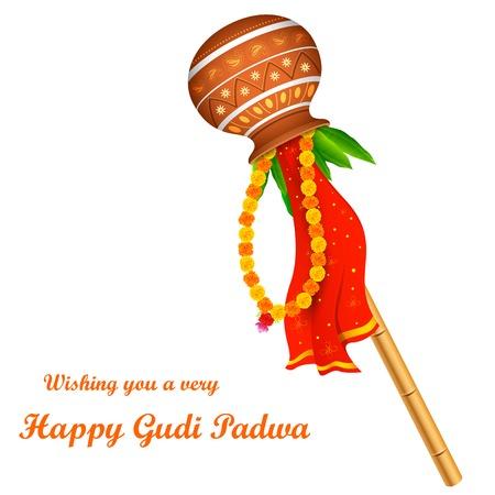maharashtra: illustration of Gudi Padwa ( Lunar New Year ) celebration of India Illustration