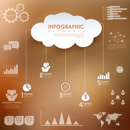 centralized: illustration of Business Infographics Chart