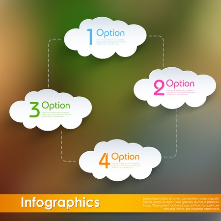 centralized: illustration of infographic chart of cloud computing Illustration