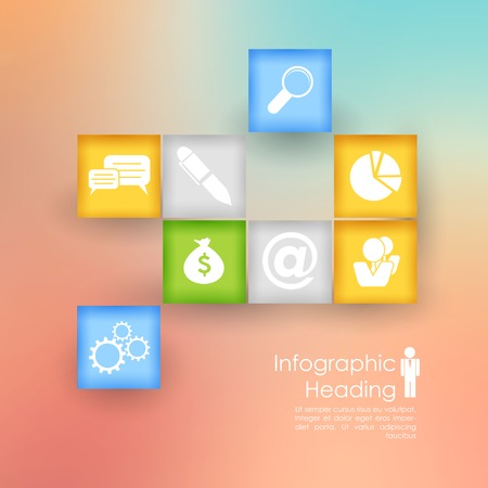 illustration of Business Infographics Chart Vector