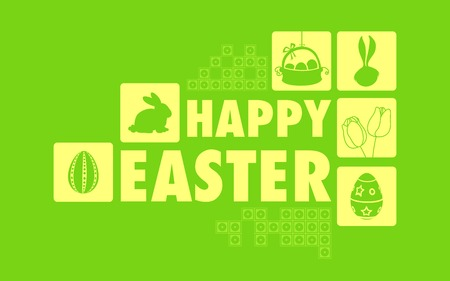 illustration of Happy Easter collage background Vector