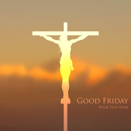 illustration of Jesus Christ crucifixion on Good Friday Illustration