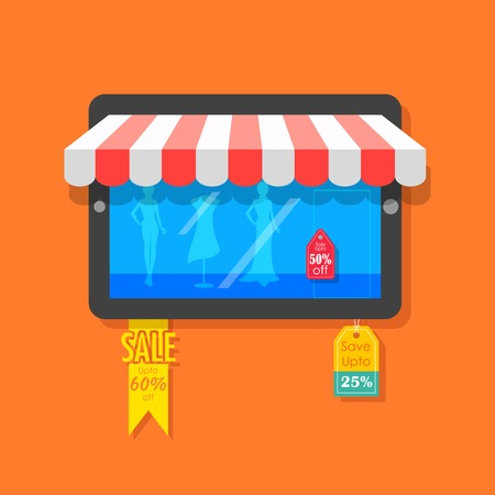 illustration of online shopping and sale concept Vector
