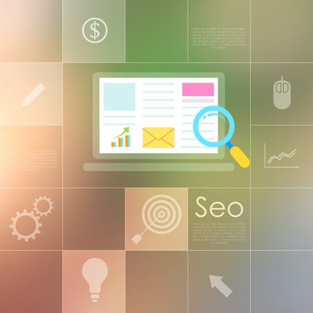 illustration of SEO concept in flat style Stock Vector - 27874445