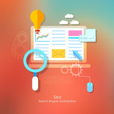 illustration of SEO concept in flat style Vector