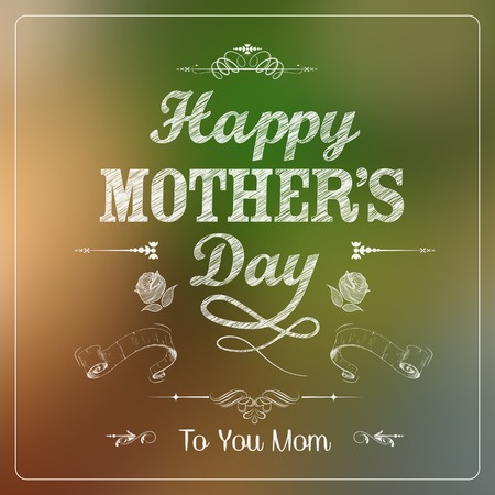 illustration of Happy Mothers Day card template Stock Vector - 27874392