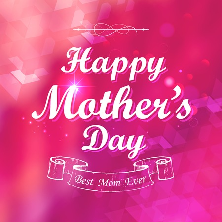 illustration of Happy Mothers Day card template Vector