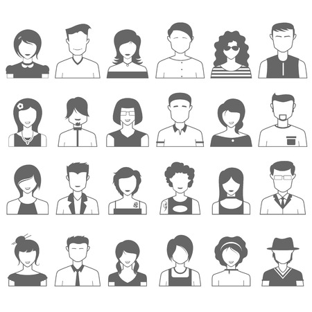 illustration of simple and clean people icon Vector