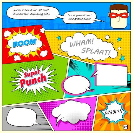 illustratie van kleurrijke komische tekstballon in vector