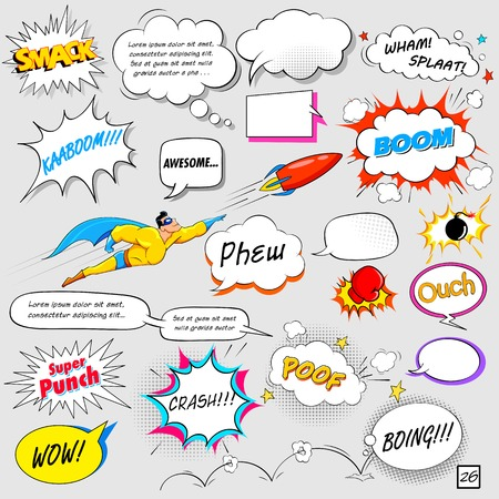 illustration of colorful comic speech bubble in vector Vector