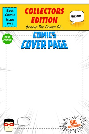 composition book: illustration of comic book cover in pop art style Illustration