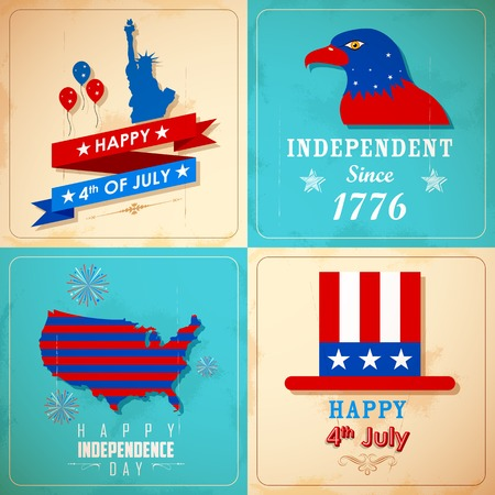 illustration of 4th of July background for American Independence Vector