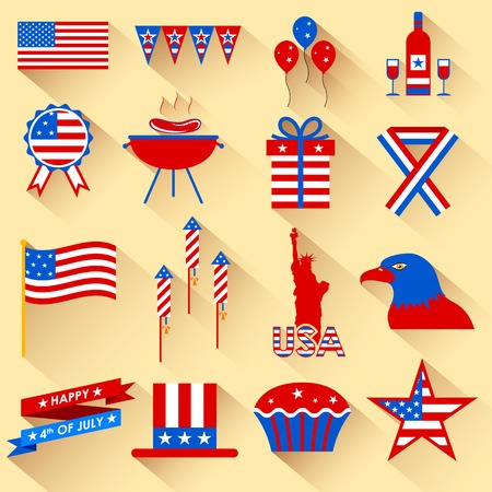 illustration of design element for 4th of July Vector