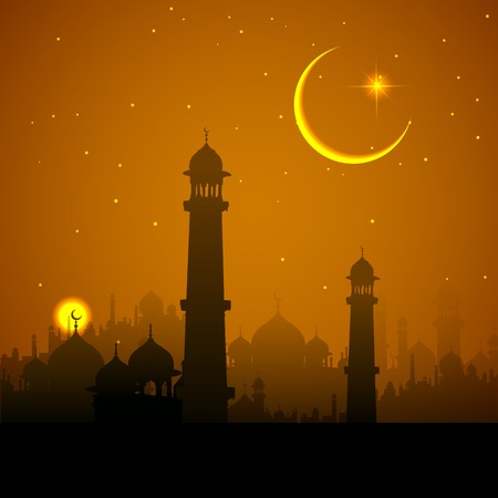 prayer: illustration of Ramadan Kareem (Generous Ramadan) background