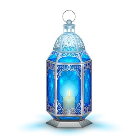 chand: illustration of illuminated lamp on Ramadan Kareem  Generous Ramadan  background Illustration