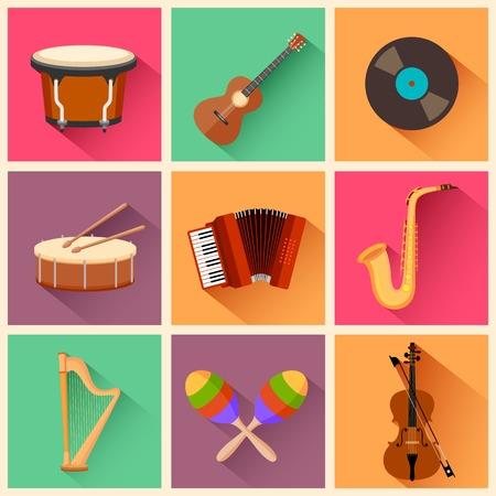 maracas: illustration of music instrument in flat style