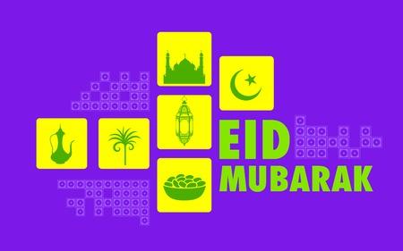 illustration of Eid Mubarak  Happy Eid  background