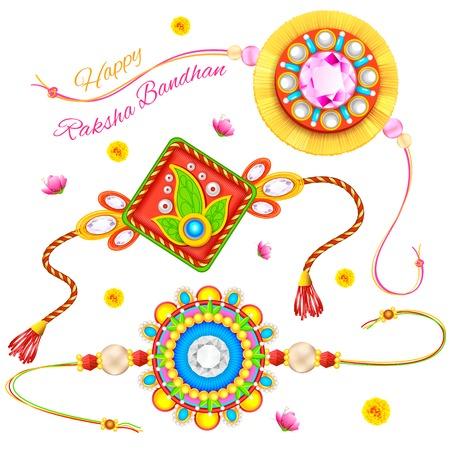 rakhi: illustration of decorative rakhi for Raksha Bandhan Illustration