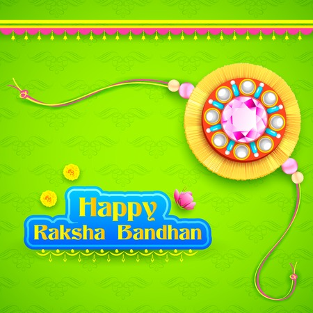 illustration of decorative rakhi for Raksha Bandhan background