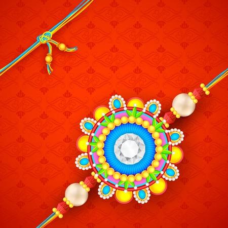 raksha: illustration of decorative rakhi for Raksha Bandhan background