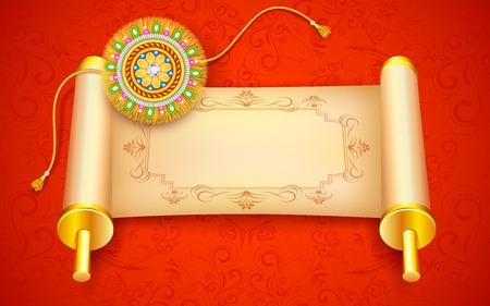 raksha: illustration of decorative rakhi for Raksha Bandhan Illustration