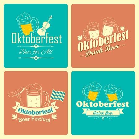 comida alemana: ilustración de fondo de la celebración de Oktoberfest