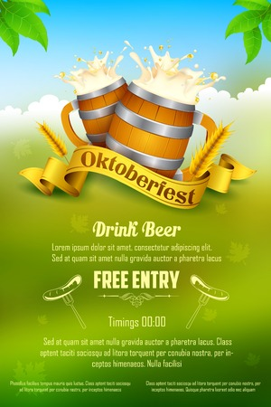 advertising: illustration of Oktoberfest celebration background Illustration