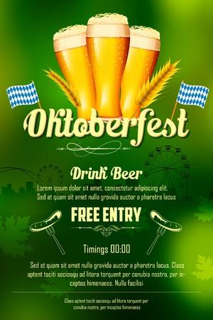 octoberfest: ilustración de fondo de la celebración de Oktoberfest