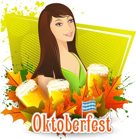 illustration of Oktoberfest celebration background Vector