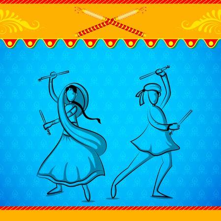 People doing Dandiya Vector