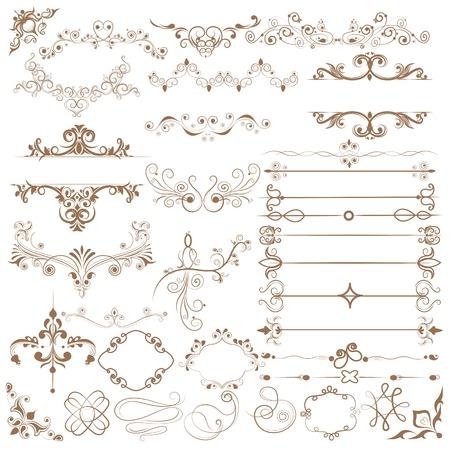Floral calligraphic design Vector
