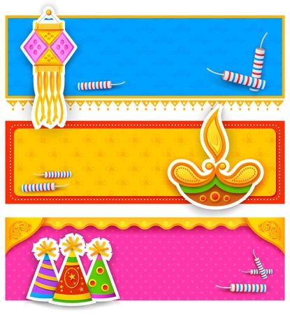 illustration of Diwali banner for promotion and advertisment Illustration