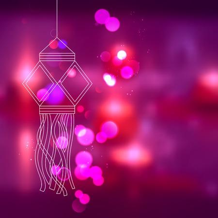 hang: illustration of hanging kandil in Diwali night