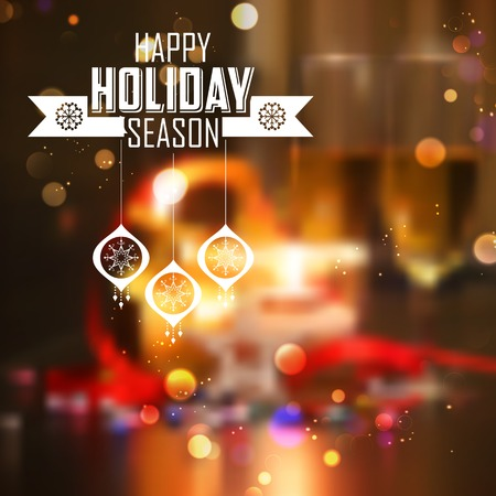 illustration of abstract Merry Christmas and Happy New Year Background Vector