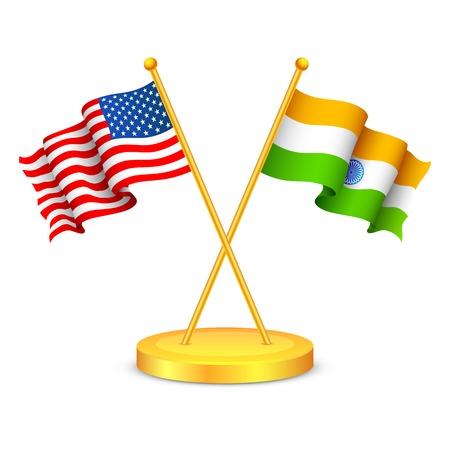 illustration of India-America relationship Vector