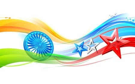 ashoka: illustration of India-America relationship Illustration